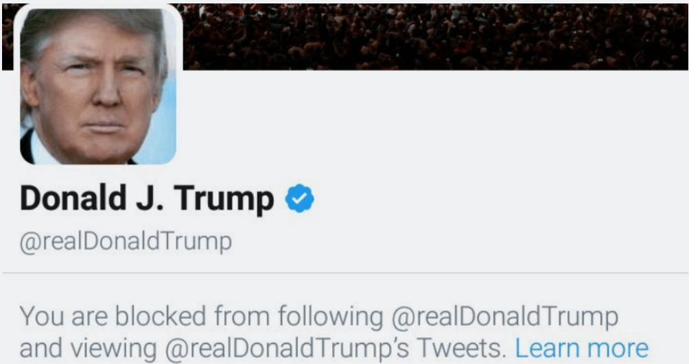 Trump udelukket Sociale Medier